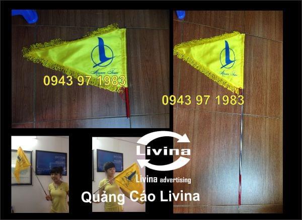 Cán cờ inox, In cờ lưu niệm