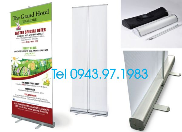 Giá cuốn, Banner cuốn, standee cuốn, roll up