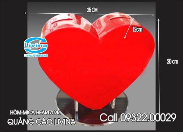 Hòm mica hình trái tim-HEART702R