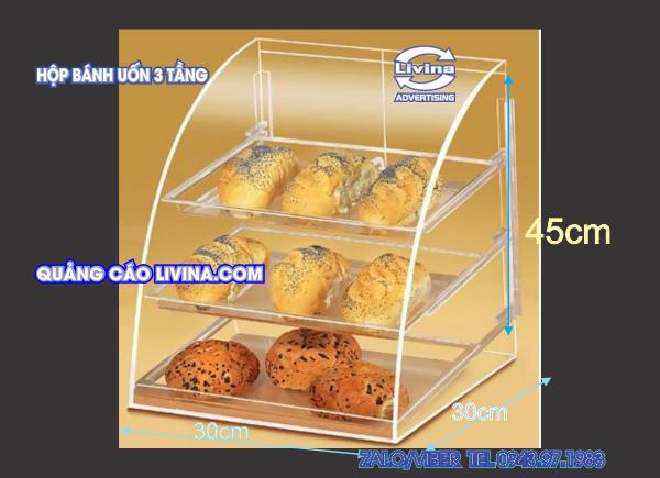 Hộp đựng bánh ngọt 3 Tầng