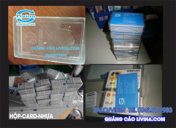 Hộp card nhựa để card visit giấy
