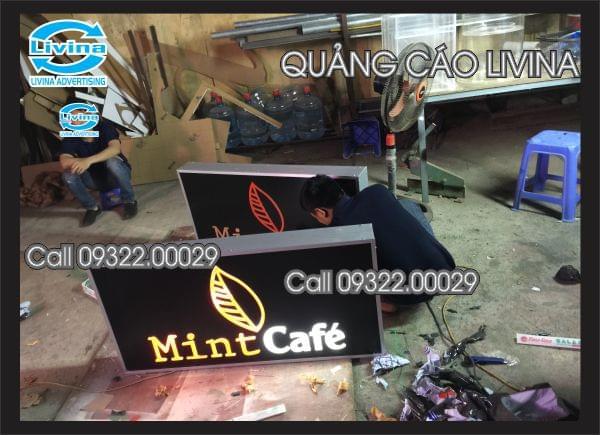 Hộp đèn siêu sáng-Mẫu-Mint Cafe