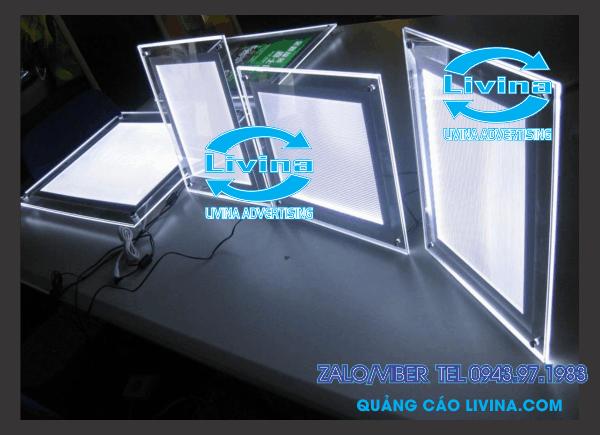 Biển hộp đèn siêu mỏng , khung mica led
