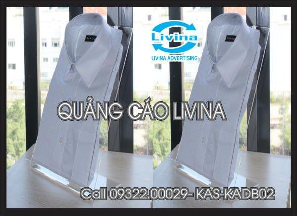 Kệ mica để mẫu áo để bàn -KAS-KA-DB02