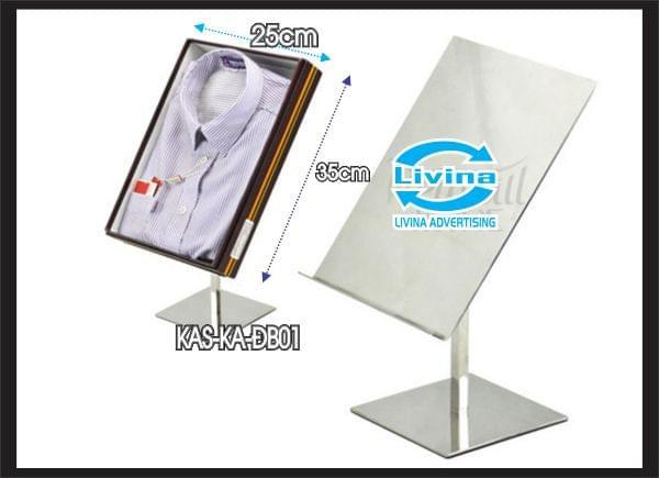 Kệ mica để mẫu áo để bàn -KAS-KA-DB01