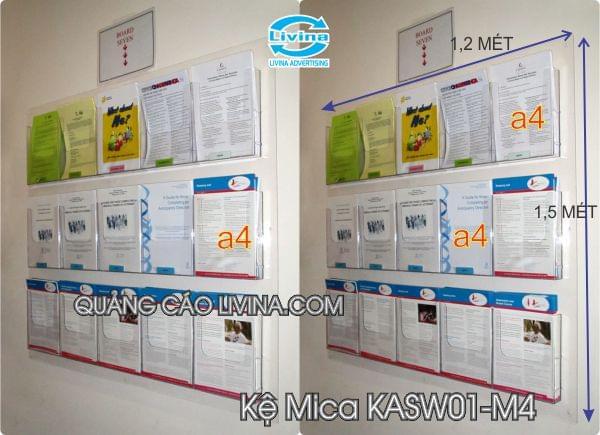 Kệ Mica treo tường KASW01-M4