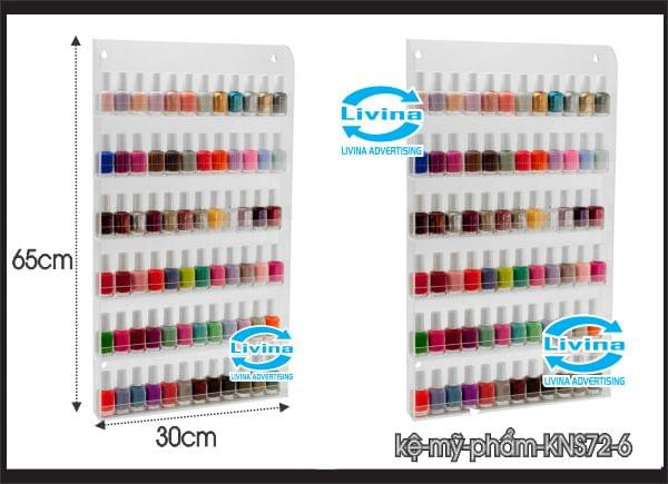 Kệ mỹ phẩm nước sơn móng tay treo tường KNS72-6