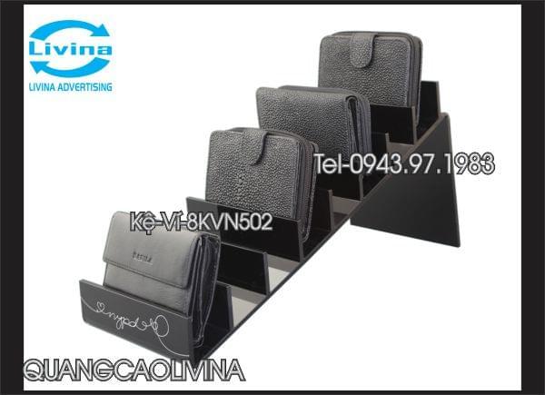 Kệ ví mica đen KV8N502