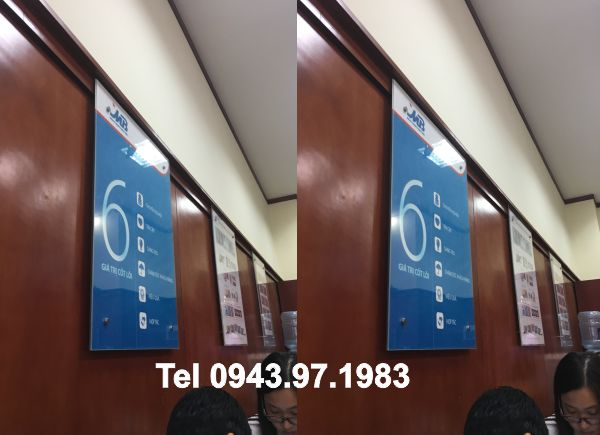 Khung poster Ngân hàng MB