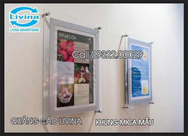 Khung mica treo tường-khung poster Mẫu 2