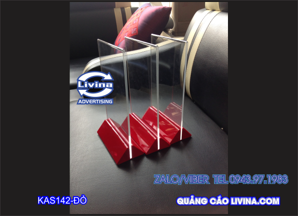 Kệ Mica menu mẫu KAS142 -Nhiều kích thước
