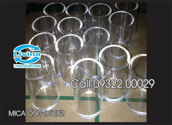 Mica ống tròn 50mm dày 2mm