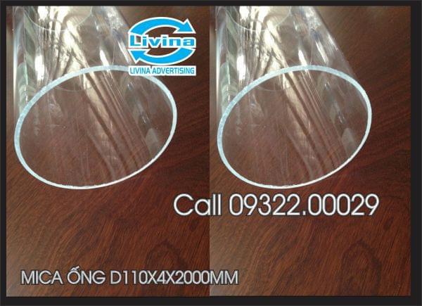 Mica ống tròn 110mm dày 4mm