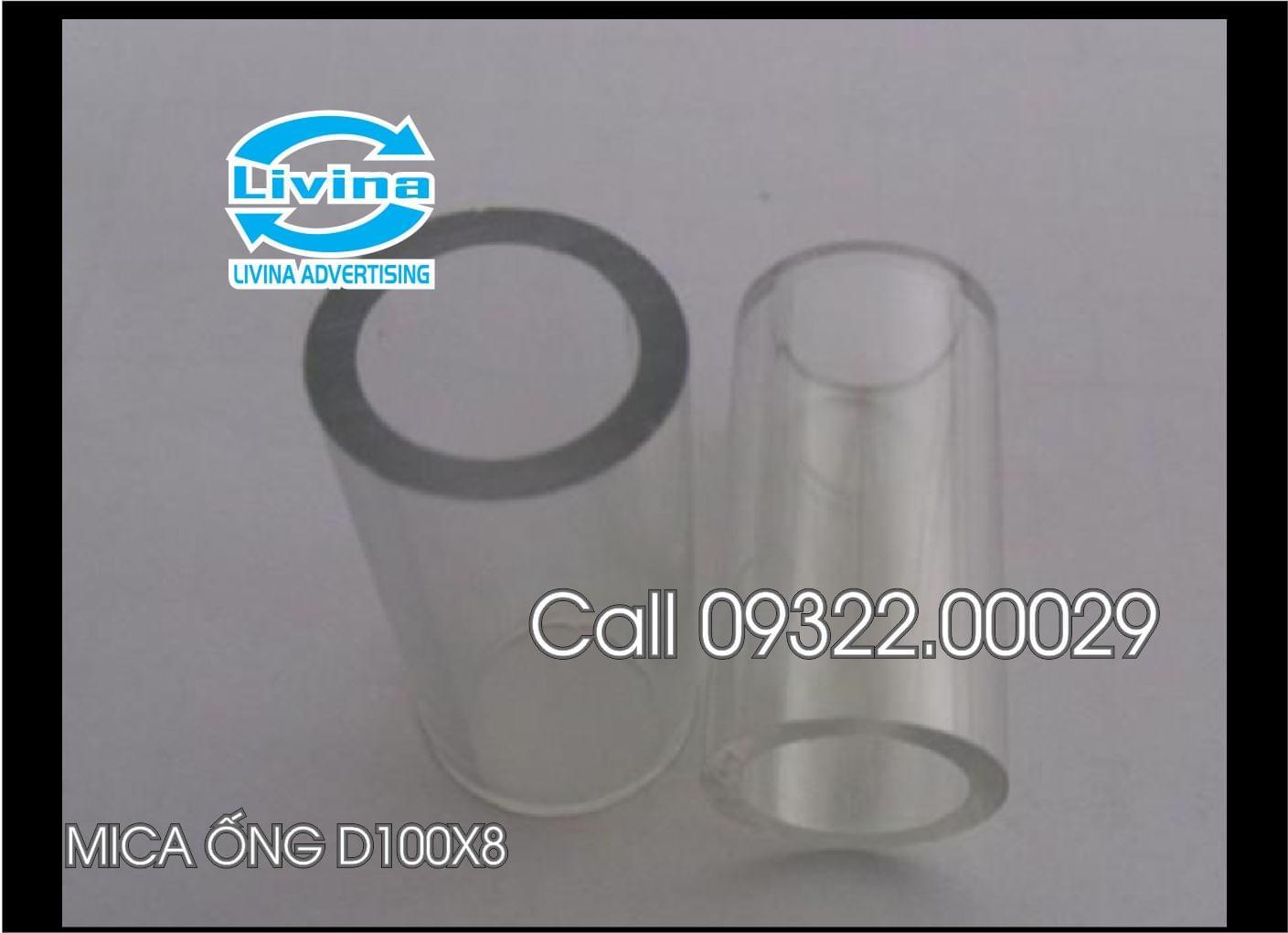 Mica ống tròn 100mm dày 8mm