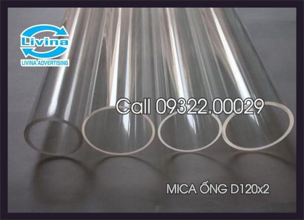 Mica ống tròn 120mm dày 2mm