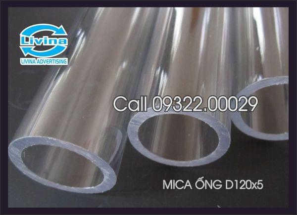 Mica ống tròn 120mm dày 5mm