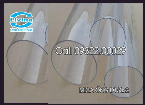 Mica ống tròn 130mm dày 2mm