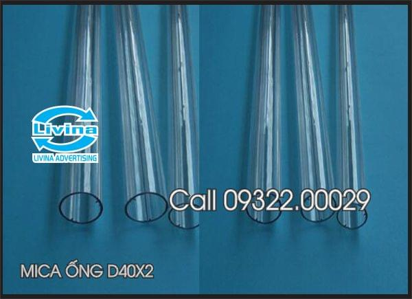 Mica ống tròn 40mm dày 2mm