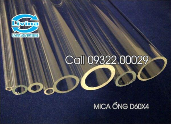Mica ống tròn 60mm dày 4mm