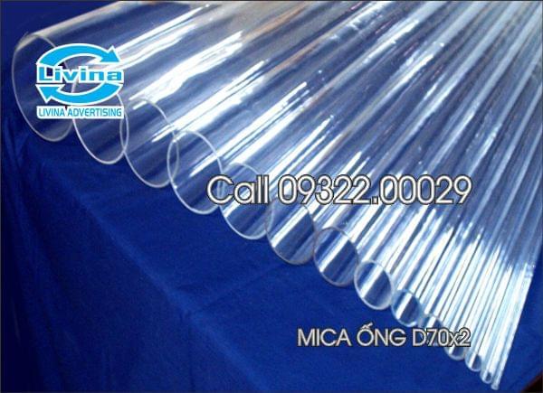 Mica ống tròn 70mm dày 2mm