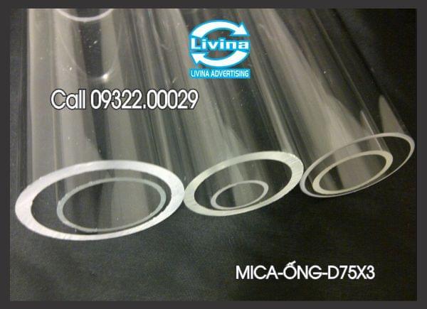 Mica ống tròn 75mm dày 3mm