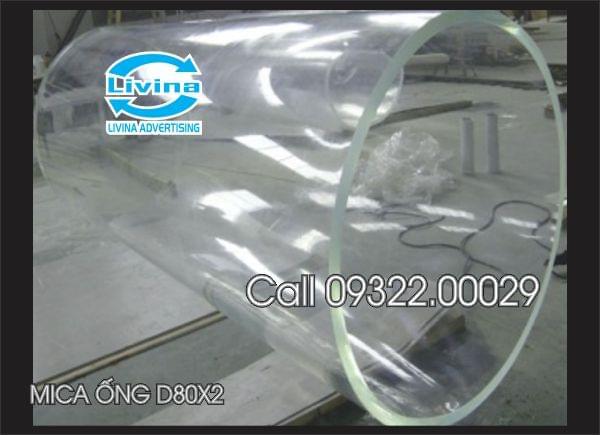 Mica ống tròn 80mm dày 2mm