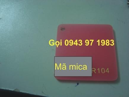 Mica nguyên tấm 104