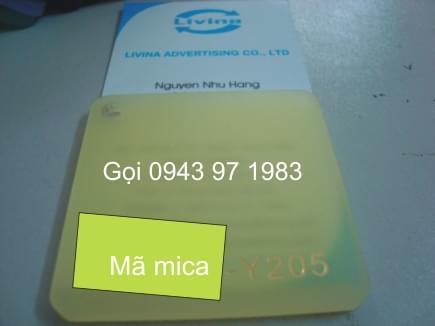 Mica nguyên tấm 205