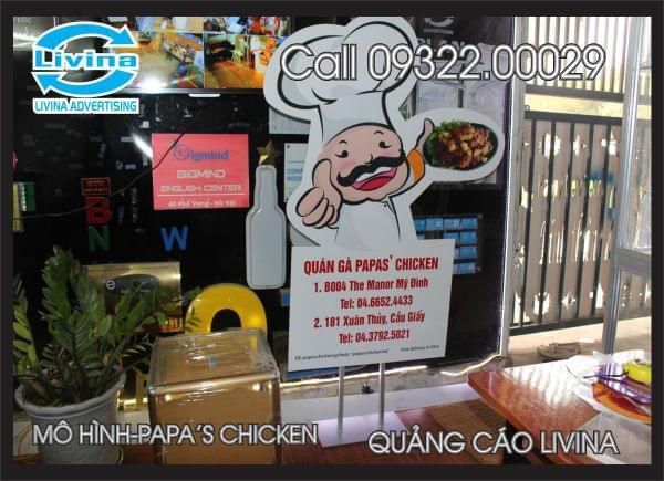 Mô hình quảng cáo Papa' chicken