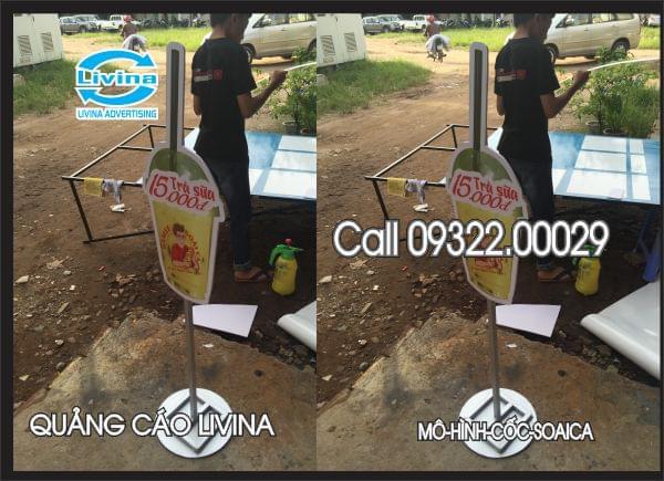 Mô hình quảng cáo Cốc Trà Sữa