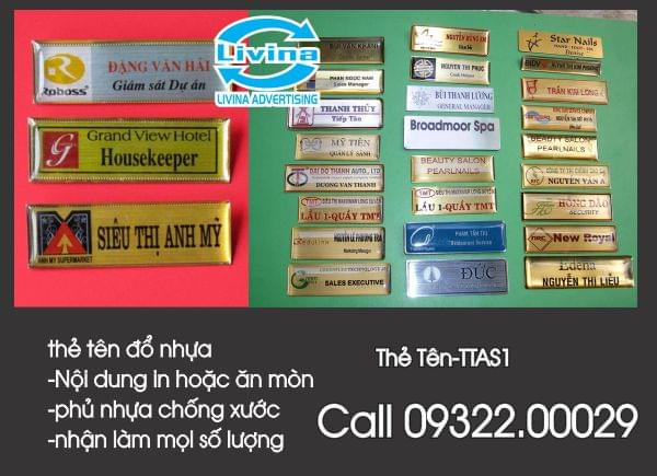 Thẻ tên nhân viên -TTAS01
