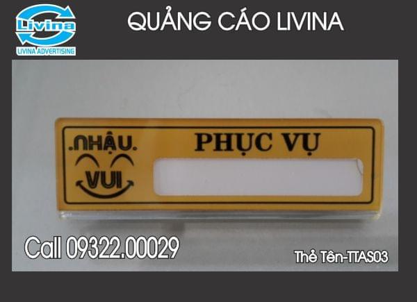 Thẻ tên nhân viên -TTAS03