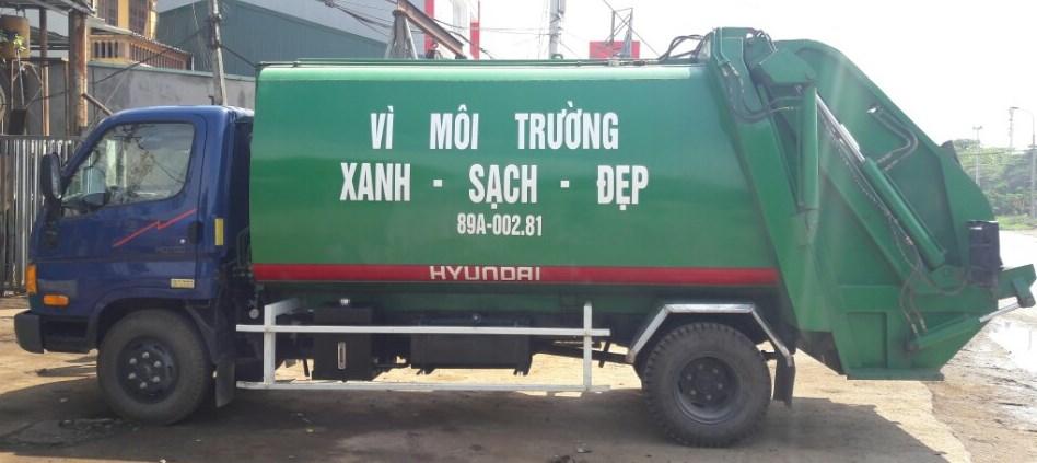 xe cuốn ép rác chuyên dụng