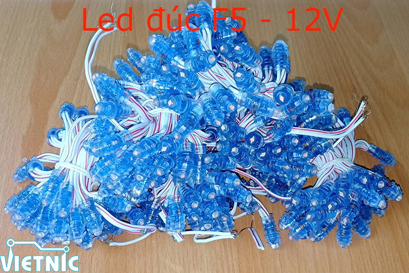 Led đúc F5 đế 8mm 12V