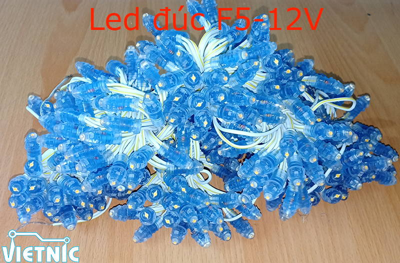 Led đúc 5 ly 12V vàng