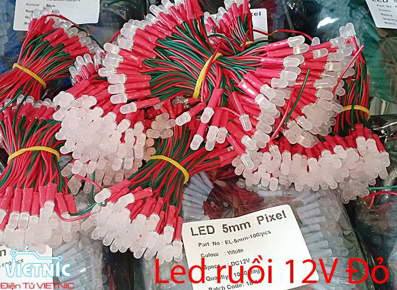 LED RUỒI 12V MÀU ĐỎ