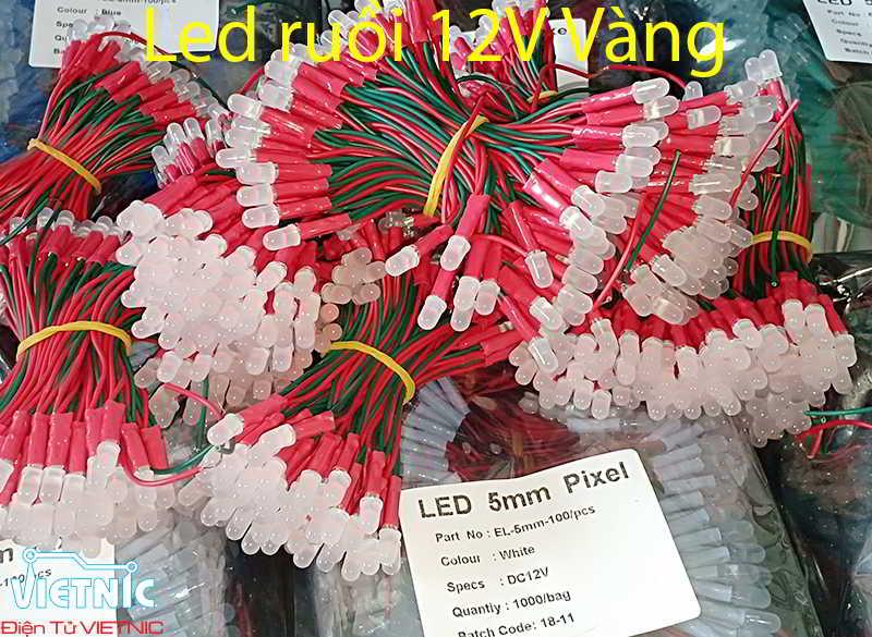 LED RUỒI 12V MÀU VÀNG