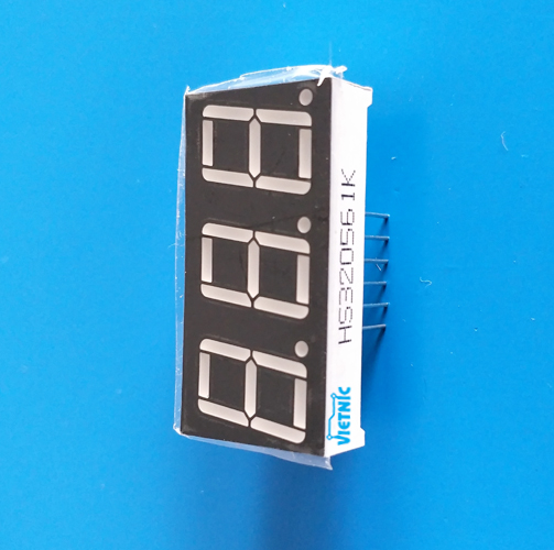 LED 7 ĐOẠN KATHODE 19*38mm - ĐỎ x3