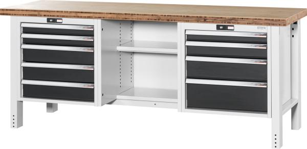 GRIDLINE READY-TO-GO WORKBENCHES (with 9 drawers, centre open)