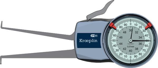 THƯỚC ĐO NHANH RÃNH TRONG Kroeplin