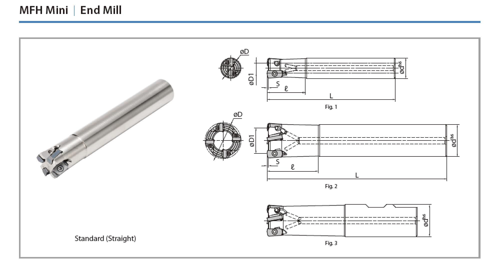 Cán dao phay MFH Mini (Kyocera)