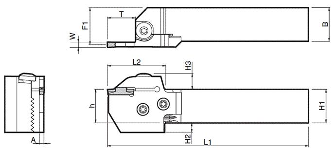Cán dao tiện cắt đứt KYOCERA KGDR3232X-3T20S