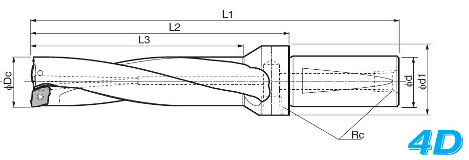 Cán khoan ghép mảnh KYOCERA S25-DRZ2392-08 (Magic Drill DRZ)