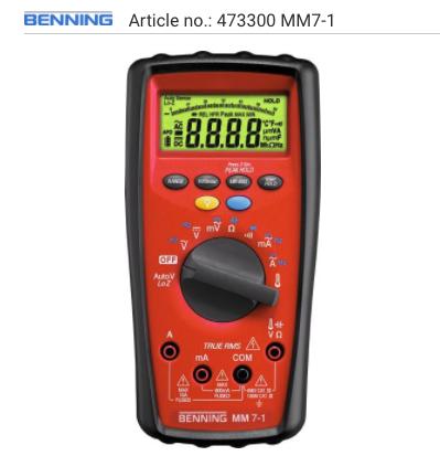 multimeter-benning