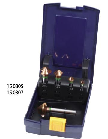 MŨI VÁT MÉP HSS CHÍNH XÁC CAO - High-precision countersink sets 90° with unequal spacing