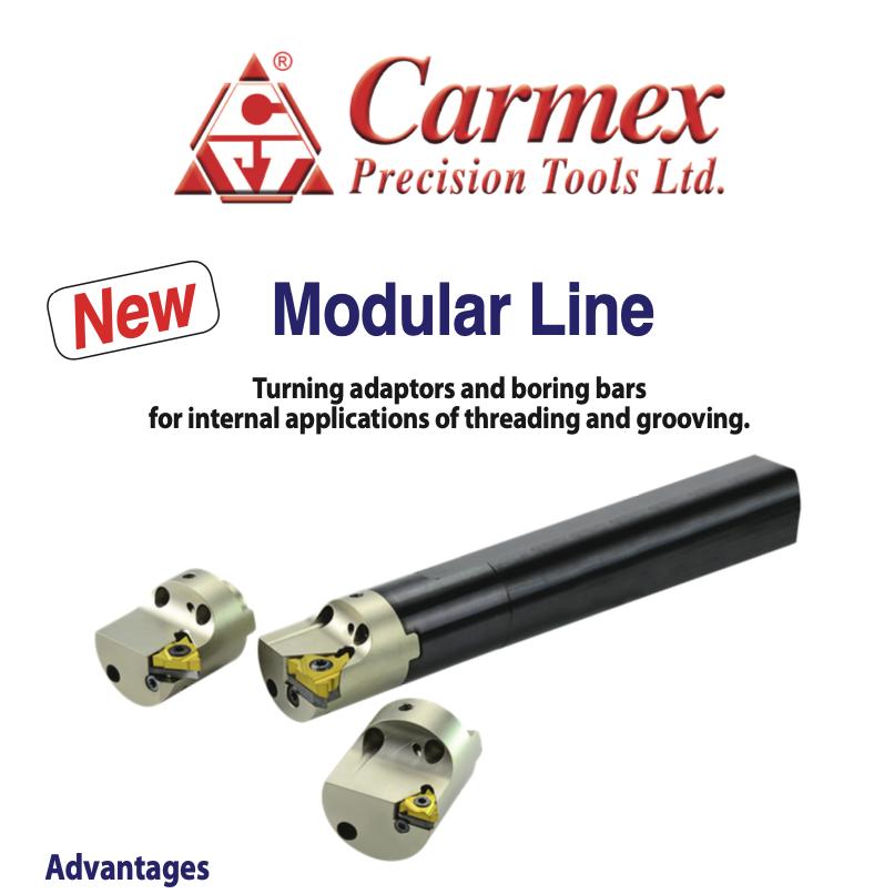 Tiện chống rung Ren/ Rãnh - Carmex Modular Line
