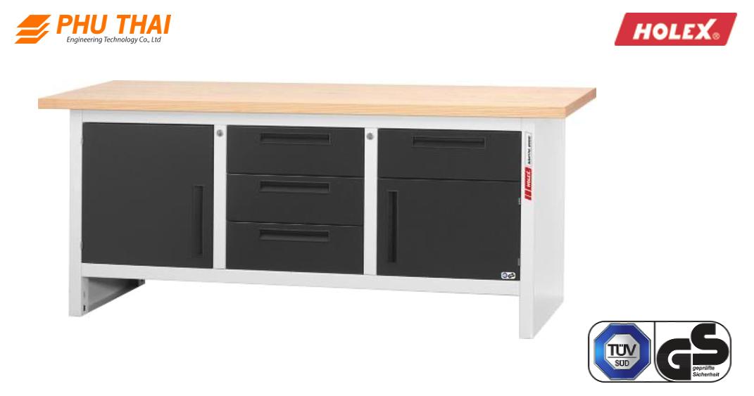 Bàn làm việc HOLEX với 4 ngăn kéo và 1 cửa xoay 2000 mm