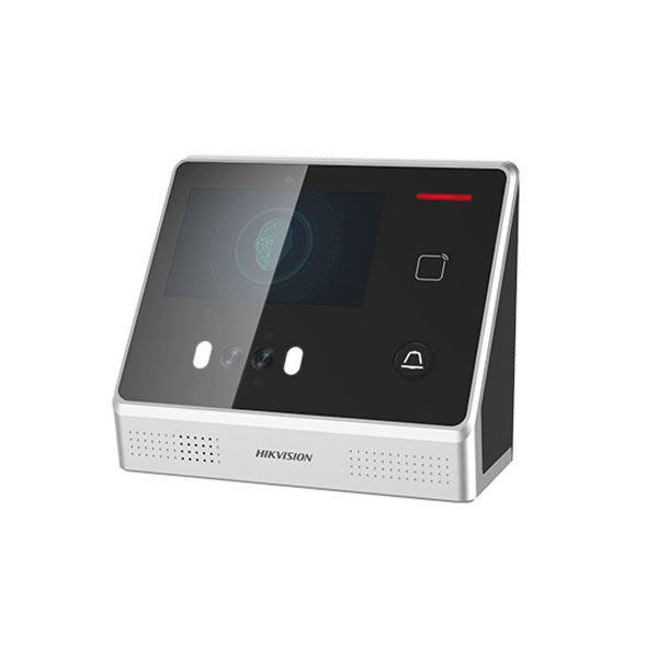 Máy chấm công nhận diên khuôn mặt trong nhà, tích hợp module đọc thẻ Mifare. DS-K1T605MF