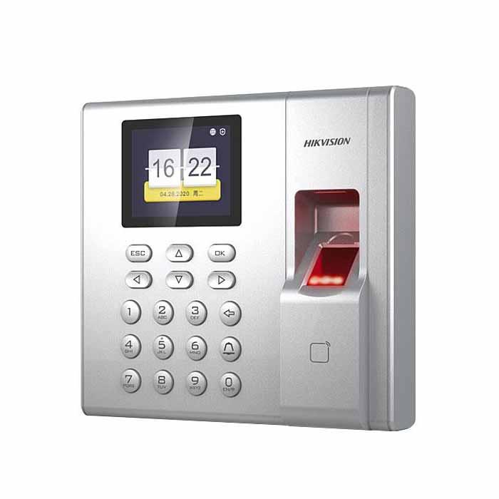 Máy Chấm Công Vân Tay + Card mifare  Màn hình LCD 2.4 inch DS-K1T8003MF