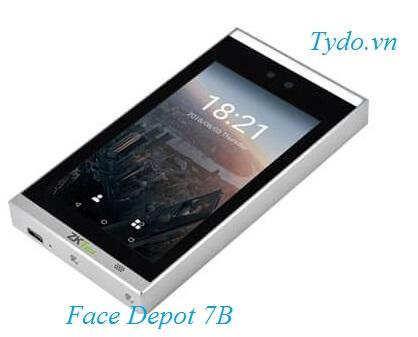 Máy chấm công nhận diện khuôn mặt kết hợp vân tay ZKTeco Face Depot 7B